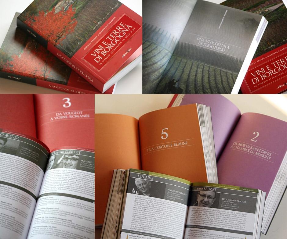 Progetto grafico per il libro Vini e Terre di Borgogna
