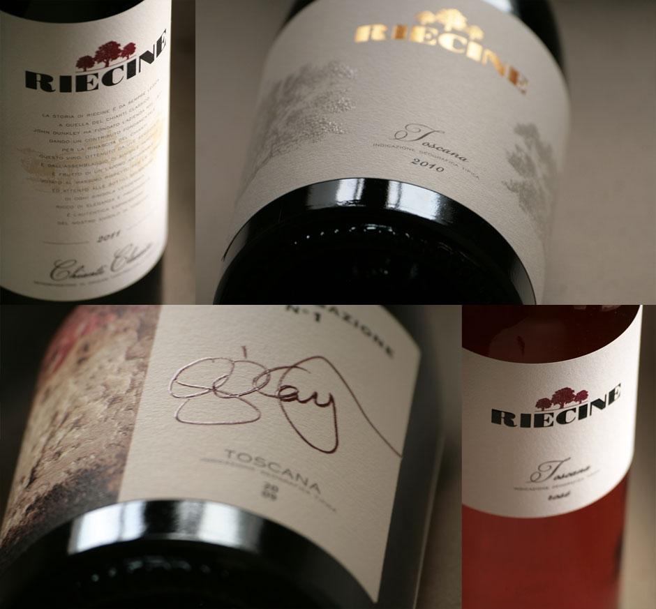 Riecine, nel cuore del Chianti Classico. Le nuove etichette dei vini.