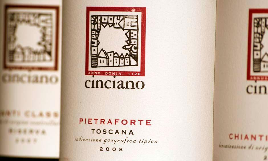 Cinciano: un affascinante borgo nel Chianti. Il progetto grafico delle etichette dei vini