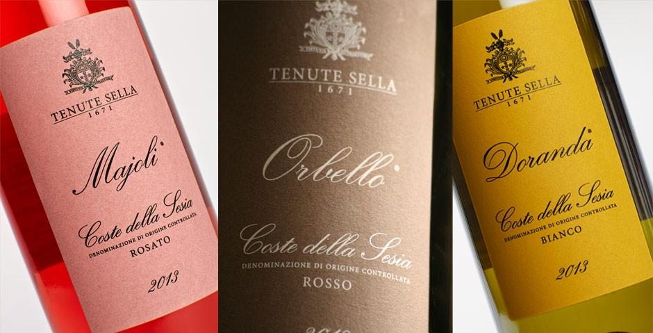 Tenute Sella: tre secoli di storia nel cuore dell'Alto Piemonte... il restyle delle etichette dei vini Coste della Sesia