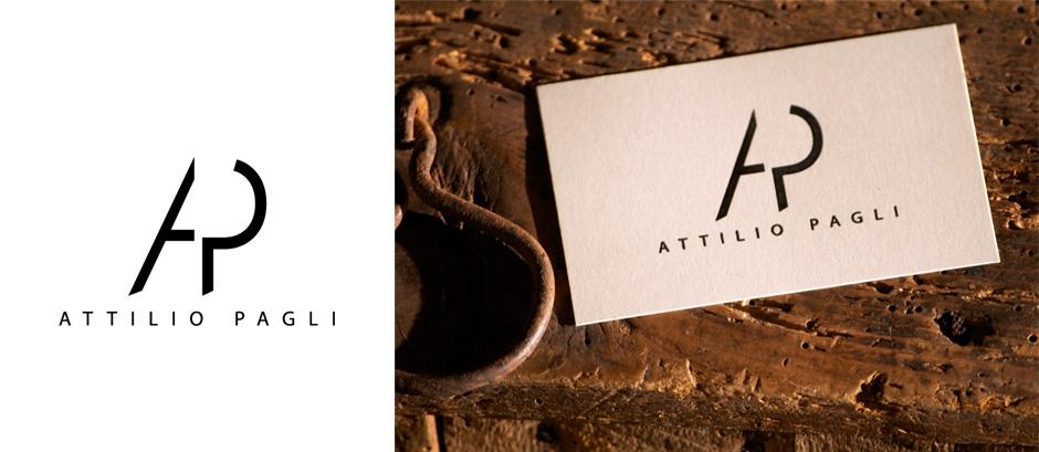 Attilio Pagli - logo e biglietti da visita